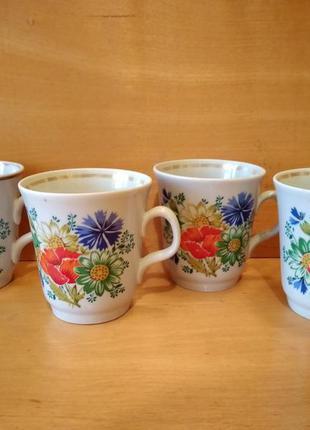 Посуда чашки керамические с полевыми цветами времен ссср 300 м...