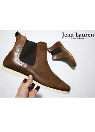 Мужские коричневые осенние ботинки jean lauren оригинал