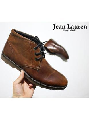 Мужские коричневые ботинки jean lauren оригинал