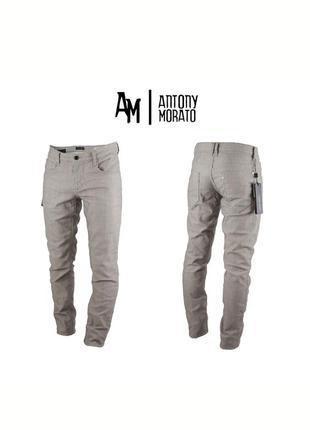 Мужские серые классические штаны antony moratta