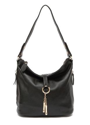 Сумка кожаная женская стильная. сумочка хобо из натуральной ко...