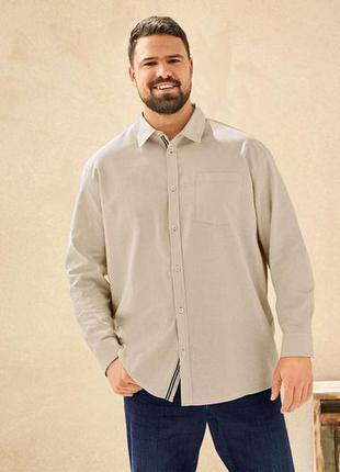 Мужская льняная рубашка livergy xl 43/44