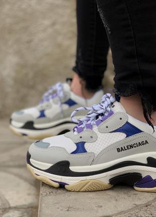 Кроссовки  triple s violet