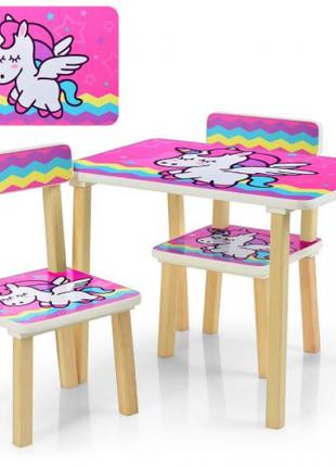 Детский столик со стульчиками деревянный 507-64
