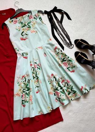 Изумительное летнее платье с пышной юбкой, платье-клеш