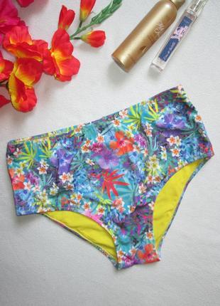 Суперовые высокие плавки от купальника в тропический цветочный...