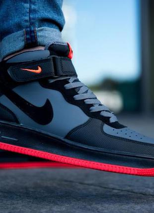 Nike air force high 1 black red