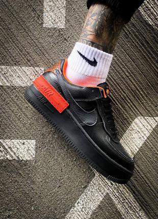 "Мужские кроссовки 🔥 nike air force 1 shadow""black/orange"" 🔥"