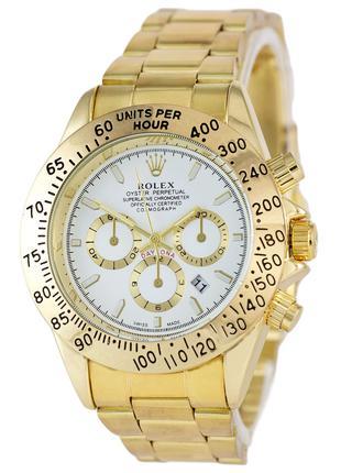 Часы Rolex Daytona Quartz Date Gold-White