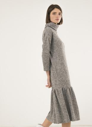 Удобное платье на каждый день season светло-серое