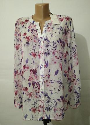Блуза новая нежная в цветы marks&spencer uk 16/44/xl