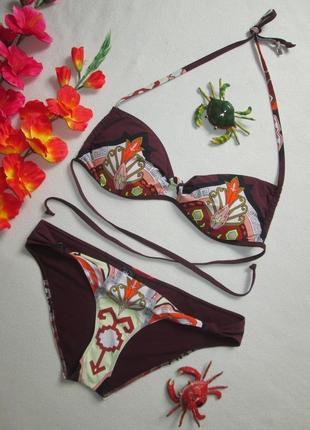 Суперовый раздельный купальник бандо в орнамент на завязках h&m