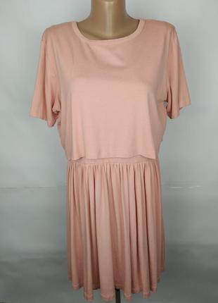 Платье трикотажное оригинальное шикарное нежно розовое asos uk...