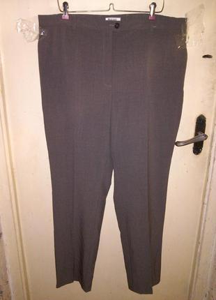 Стрейч,зауженные брюки,мокко,высокая посадка,большой размер,на...