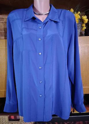 Синяя рубашка, блузочка