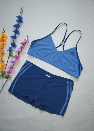 Фирменный спортивный купальник топ + шорты adidas оригинал.