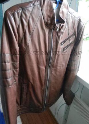 Кожаная мужская куртка ares