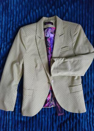Пиджак 3\4  в горошек
