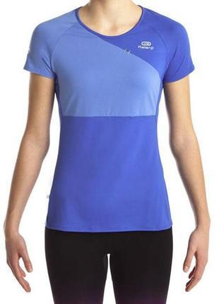 Суперовая спортивная футболка с контрастными вставками kalenji.