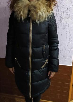 Люксовое пальто с шикарным мехом