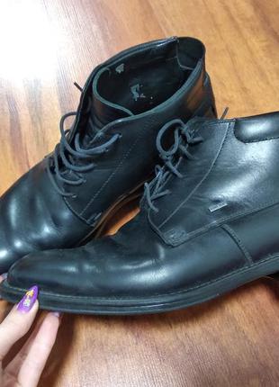 Мужские туфли полуботинок кожа