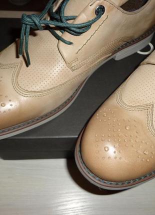Новые мужские кожаные туфли оксфорды rockport wing tip