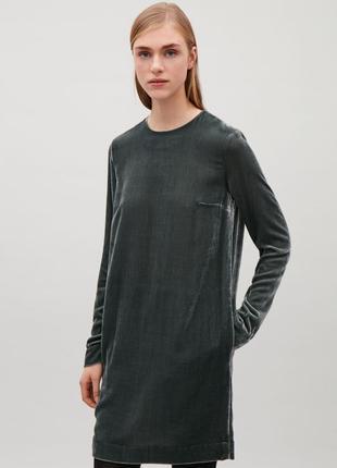 Бархатное платье cos