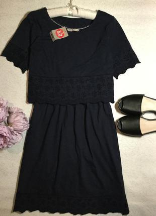 Платье из лёгкого трикотажа с  топом  прошва  tu размер 12