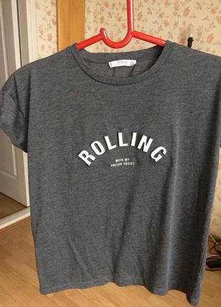 Крутая футболка оверсайз с объемной надписью