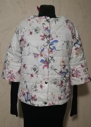 Стильная куртка - пиджак, пуховик слегка утепленная в стиле ch...