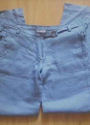 100% льняные легкие брюки