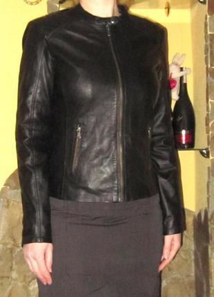 Кожаная куртка французского бренда promod