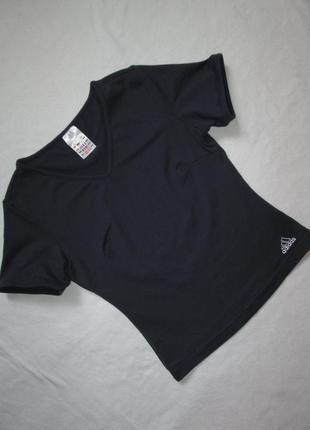 Фирменная стрейчевая спортивная футболка adidas оригинал