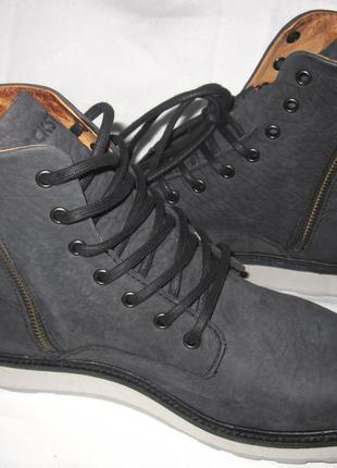 Ботинки blackstone,мягенький тесненный нубук