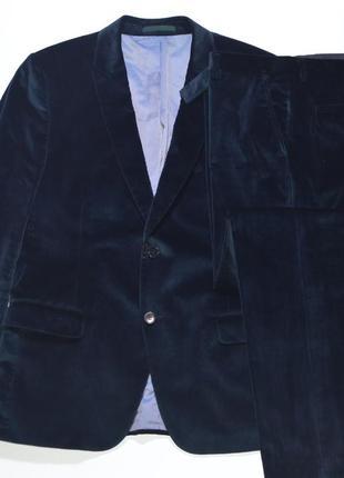 Классический костюм велюр, вельвет, пиджак, брюки kenzo paris