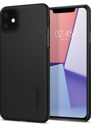Чехол Spigen Thin Fit  для iPhone 11 Black