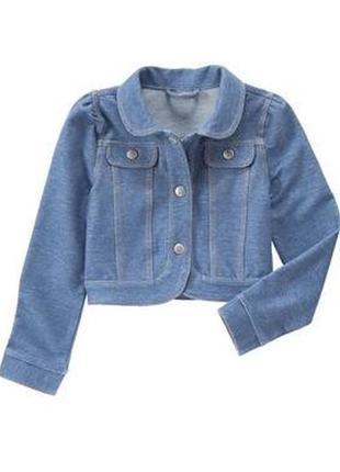 Модный джинсовый пиджак девочке от gymboree америка