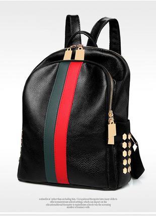 Женский черный рюкзак : черный 2142