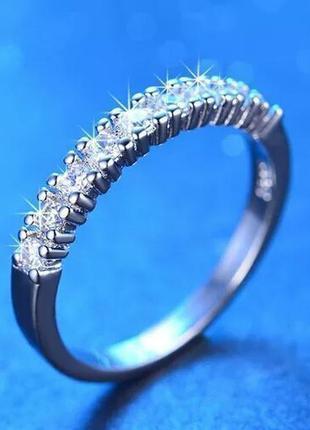 Интересное оригинальное кольцо колечко каблучка с цирконами . ...