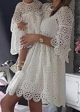 Платье мама+дочь,family look,на год,головасие