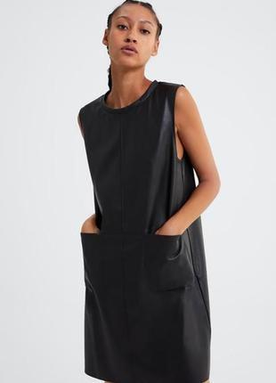 Платье из кожи от ZARA / S