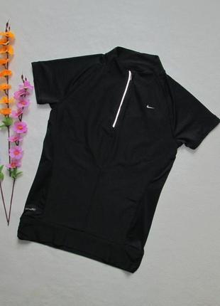 Спортивная черная футболка nike оригинал