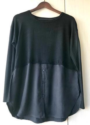 Черный джемпер - рубашка ZARA / S