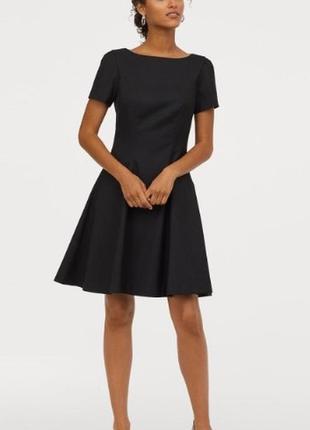 Чёрное деловое платье H&M / S