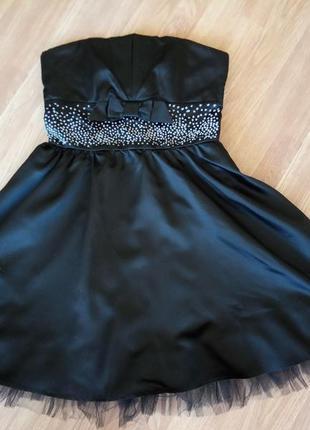 Платье-бюстье вечернее, коктейльное. бренд la belle. цвет черн...