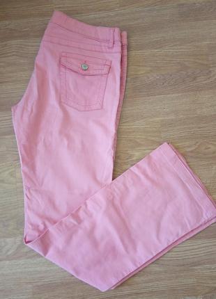 Стильные, качественные штаны, брюки нежно-розового цвета. разм...