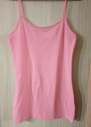 Качественная, брендовая маечка нежно-розового цвета. бренд atm...