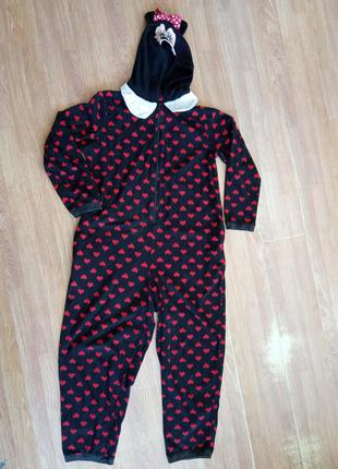Теплая, мягкая, брендовая пижама кигуруни. бренд disney.   раз...