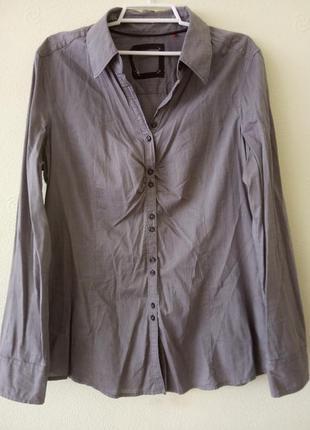 Стильная, рубашка женская . цвет серый. раз.укр.48