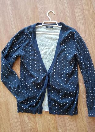 Пуловер, кофта, кардиган на пуговицах, в горошек. бренд benott...
